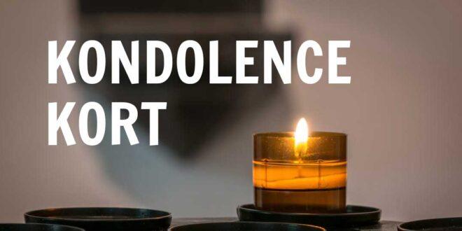kondolence kort tekst